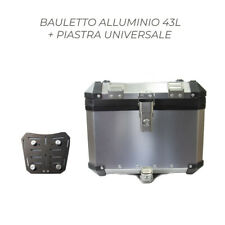 BAULETTO TOP CASE BAULE POSTERIORE ALLUMINIO 43L + PIASTRA BMW HONDA BENELLI KTM