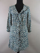 Pins and Needles Women Dress Small Button Down Ruffle Front Floral Anthroplogie