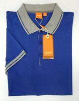Orig $75 Hugo Boss Shirt Black Blue SS Mens Size XL Pejo 50308555 417 NEW Polo
