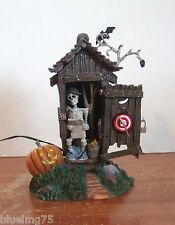 Dept 56 Halloween Haunted Outhouse #53068 NIB (Y457)