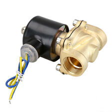 """Brass 12V DC 3/4"""" Electric Solenoid Valve Water Air Fuels Gas Normal Closed New"""