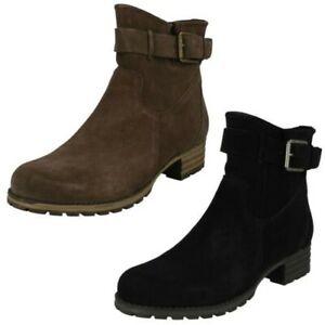 Ladies Clarks Smart Ankle Boots 'Marana Amber'