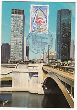 CARTE MAXIMUM FDC 1977  TIMBRE N° 1934 FEDERATION EUROPEENNE DE LA CONSTRUCTION