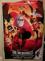 The Incredibles 2004 Original Movie Poster 27x40 Rolled, Double-Sided RARE