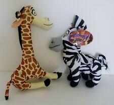 Toy Factory Madagascar 3 Plush Animals, Marty Zebra, Melman Giraffe, 2012