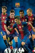 FC BARCELONA SPIELERCOLLAGE VARIOUS PLAYERS MESSI INIESTA
