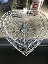 Heart Shaped Wire  Baskets , Shabby Chic. Vintage. Bread Etc