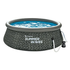 New listing Summer Waves 8ft x 2.5ft Above Ground Inflatable Outdoor Pool with Pump (Used)