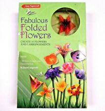 Fabulous Folded Flowers Kid Craft Hobby Art Origami Paper Book Set