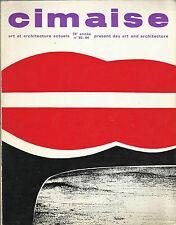 Rivista CIMAISE / ART ET ARCHITECTURE ACTUELS OTTOBRE - NOVEMBRE - DICEMBRE 1969