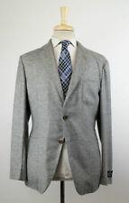NWT BELVEST Gray 100% Cashmere Unstructured Sport Coat Size 50/40R Drop 8 $2350