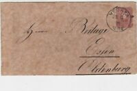Germany 1878 Stamps Cover to Essen Oldenburg Vechta Cancel Ref 23284