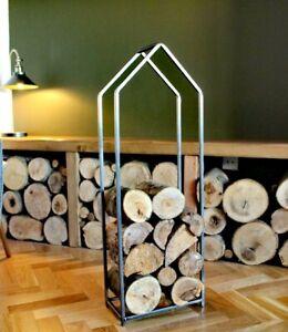Wrought Iron Log Holder, log ring, log basket. wood burner. Metal log holder,