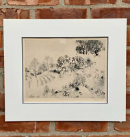 American Master Print Maker Peter Milton Etching. Winterscape VI Signed. 1965