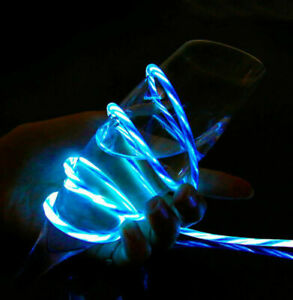 LED Flowing Lightup /Micro USB/Type C/Charging Cable for Android iPhone