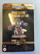 Space Marine Terminator capitán Edición de Coleccionistas Warhammer modelo de apertura de la tienda