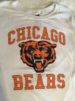 Junk Food Youth Chicago Bears Sz XXL T-Shirt White w/ Team Logo See Measurements