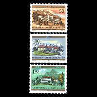 Liechtenstein 1985 - Castles Architecture - Sc 806/8 MNH