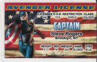 Marvel Comic Superhero CAPTAIN AMERICA Avengers  Drivers License fake i.d. card