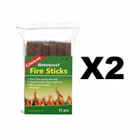 Coghlan's Waterproof Fire Sticks Tinder Emergency Fire Starters (2-Pack of 12)