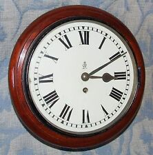 AUTHENTIC Mahogany GPO Chain Fusee Wall Clock with 10 INCH Dial
