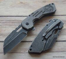8 INCH TACFORCE SPRING ASSISTED TACTICAL KNIFE WITH POCKET CLIP