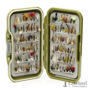 Waterproof Fly Box with an Assortment of Flies for Trout Fly Fishing