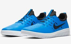 Nike SB Nyjah Free Huston Zoom Air Skate Shoes Mens Size 5 Photo Blue Janoski