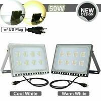 LED Flood Light  10/20/30/50/100W Outdoor Lamp Security Flood Light w/US Plug