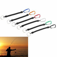 1PC Portable Fishing Lanyards Rope Boating Camping Carabiner Secure Lock Grip NT
