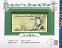 World Banknotes Great Britain 5 pounds 1980-87 P 378c UNC Somerset KS19