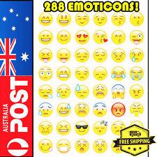 288 Popular Cute Emoji Emoticon Pack Cut Stickers Decoration