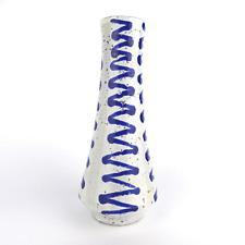 Rare Keramik Vase Zick-Zack WGP German Pottery MCM vintage 1950 1960 H. 26 cm