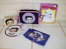 Betty Boop Lot 4PC - Wallet, Brooch, Hair Pins, Cell Cloth Case