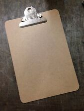 Quality A5 Wooden Clipboard - Sturdy Hardboard With Extra Strong Clip