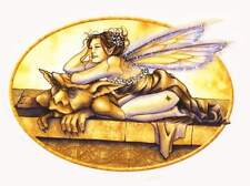 SMILING GARGOYLE FAIRY FAERY WICCAN FAE STICKER/VINYL DECAL ART BY Selena Fenech
