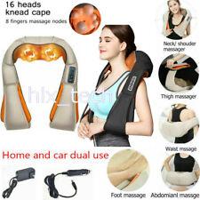 Electric Deep Massager Neck Shoulder Back Knocking Kneading Heat Massage Pillow