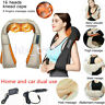 Electric Deep Massager Neck Shoulder Back Knocking Kneading Heat Massage Pillow