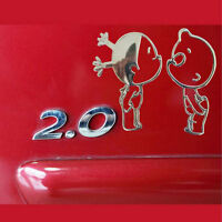 Adesivo sticker bimbi bacio KISS auto moto camion car tuning bimbo 3D ARGENTO
