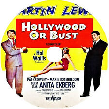 Hollywood or Bust DVD Dean Martin Jerry Lewis Anita Ekberg 1956 rare