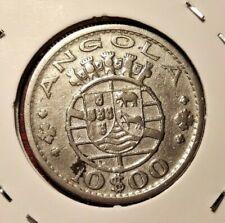 Angola 10 escudos 1952 coin (SILVER!)
