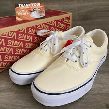 Vans Era Classic White True White Cream Shoes Size 9.5 Women's New With Box NWB