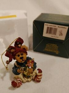 Boyd Bears & Friends Bearstone Collection #25751 Belle with Dolly...Bow Perfect