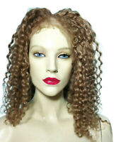 Silk Top Remi Remy Full Lace Human Hair Loss Replacement Wig Deep Wave Alopecia