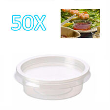 50x 2oz Clear Plastic Containers Tubs with Separate Lids Food Safe Takeaway