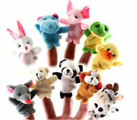 Granja Zoo animal dedo títere dedo juguete boy &girl bebé fiesta relleno muñ Np