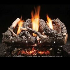 """Fireside America Heritage Char Vent Free 18"""" Gas Logs with Manual Valve - NG"""
