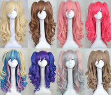 Fashion Lolita Full Curly Wig Pigtails Wavy Hair Cosplay Costume Halloween Party