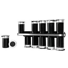 Zero Gravity 12 Canister Wall Mount Magnetic Spice Rack Stainless Steel Shelf
