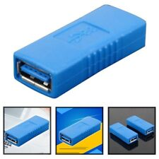 Blue USB 3.0 Type A Female to Female Connector Adapter Coupler Gender Changer CA